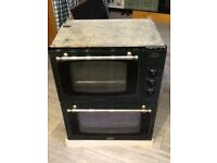 BUILT UNDER SELF CLEANING ELECTRIC DOUBLE OVEN TRICITY BENDIX TOWN & COUNTRY,GREEN & BRASS FINISH