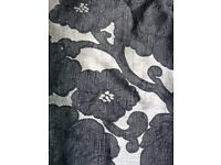 Curtains, John Lewis, beige/charcoal. large