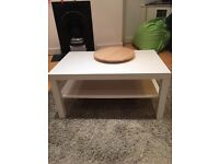 SOLD White Ikea coffee table and side table