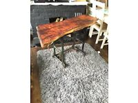 Industrial style side/console tabe