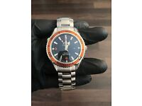 Omega sea master orange bezel