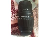 NEW Sigma 70-300mm f/4-5.6 DG Macro Telephoto Zoom Lens for SLR Cameras
