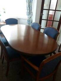 Parker Knoll wooden dining table