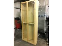 Oak Display cabinet with glass window and lighting