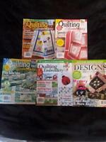 Embroidery & Quilting Magazines - Five