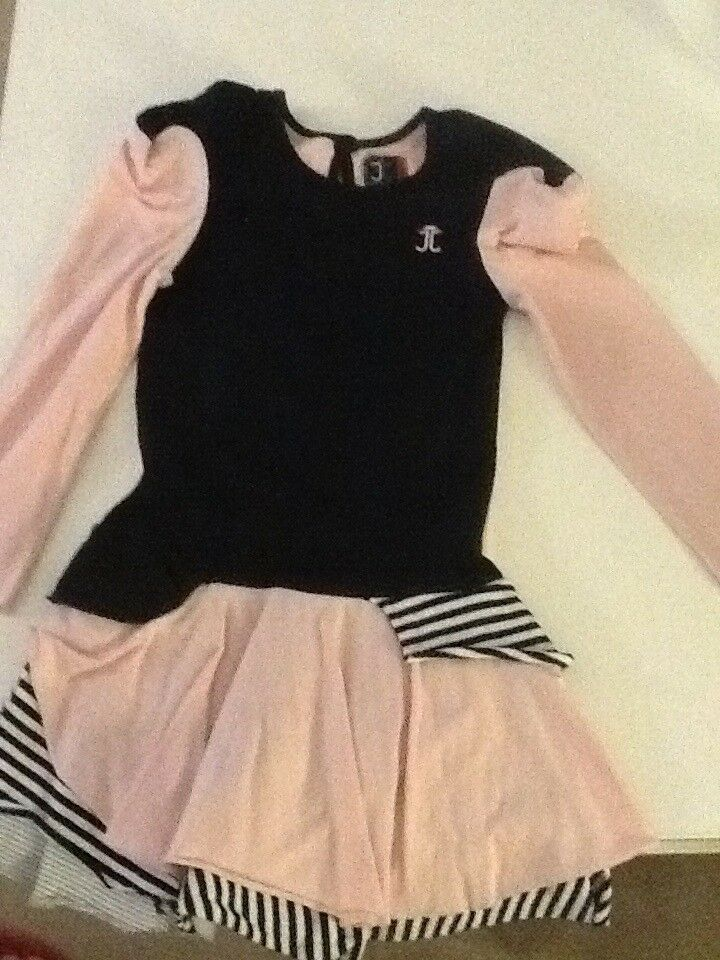 **JESSIE & JAMES PINK AND NAVY SNAIL DRESS PERFECT CONDITION**