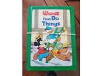 Disney word books x4
