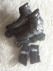 Women's Rollerblades and wrist protectors