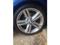 """Genuine bmw 18"""" 1 series alloys + tyres x4"""