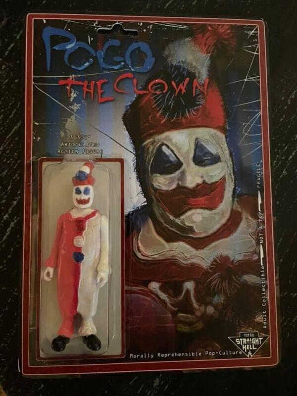 NEW s.2 POGO the Clown 3.75' Handmade True Crime Figure