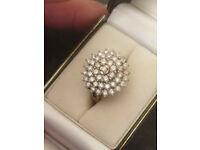 9ct Gold Diamond (2 carat) Cluster Ring