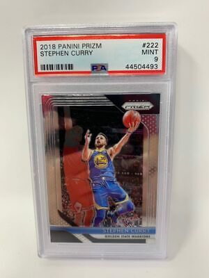 2018-19 Panini Prizm Stephen Curry #222 PSA 9 GOLDEN STATE WARRIORS
