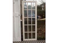 Glazed wood Door. Pick up Chiswick W4