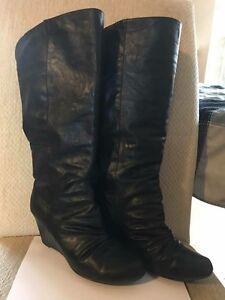 Women's black boots