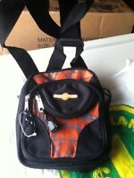 Aer O Pak Black and Orange Small Backpack