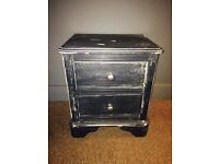 TWO DRAWER BEDSIDE TABLE SHABBY CHIC