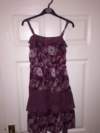 Girls berry dress aged 10-11 years