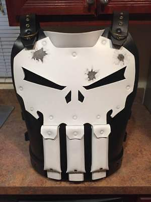 The Punisher vest chest armor costume cosplay Frank Castle Marvel Netflix - Punisher Costume Vest
