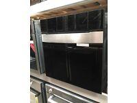 60cm Jet Black Glass Built in Single Oven