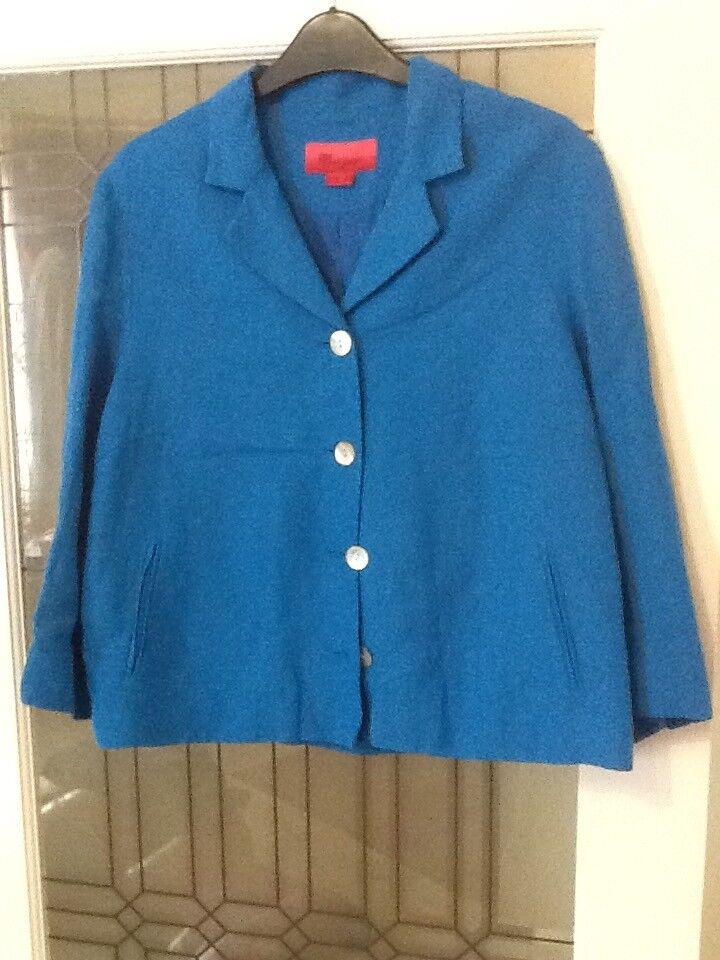Monsoon blue jacket size 14