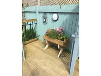 Raised bed / patio planter / trough. Natural woid