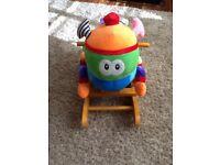 Sit on rocking caterpillar