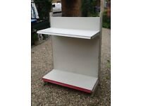 Qty fully adjustable steel shelving suitable for small grocer/newsagent/general store