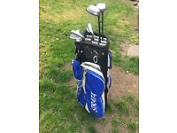 Ladies gold clubs and bag