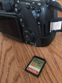 Canon 70D with EF-S 18-55mm lens kit
