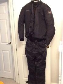 Textile 2 piece motorcycle suit