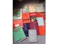 Vintage Pianoforte sheet music books