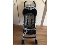 Lulu Guiness Limited Edition Butterfly Maclaren Quest Black White