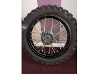 12/14 pitbike wheels ,very good condition and tyre