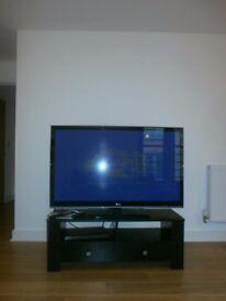 Modern black TV unit