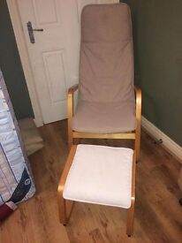 IKEA PAONG CHAIR AND FOOTSTOOL BOTH MINT CONDITION BARGAIN AT £25 FOR BOTH