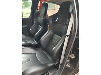 BB6 wingback bucket seats with Clio mk2 OMP subframes