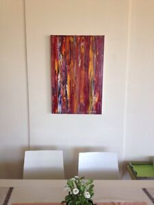 Original abstract painting, Oils on Canvas, Ready to hang-Unframed. Broadbeach Gold Coast City Preview