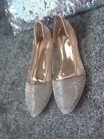 New diamanté ladies shoes size 6