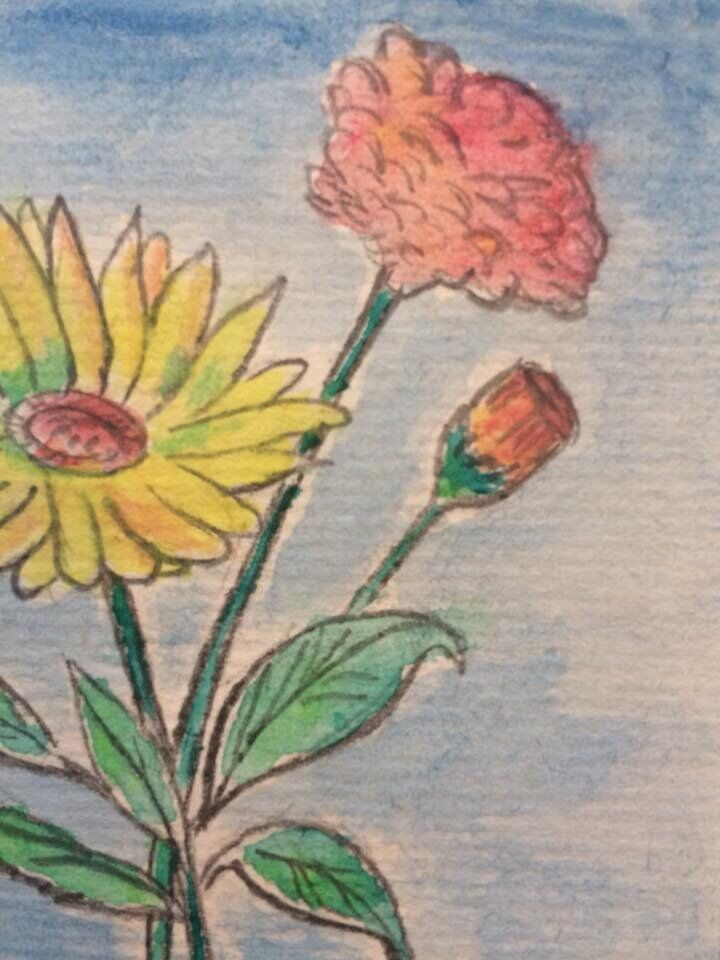 Watercolour Painting Of Flowers In Kempston Bedfordshire Gumtree