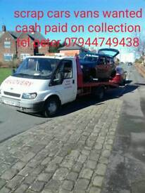 WE BUY SCRAP CARS VANS 4 CASH CALL PETER ON 07944749428
