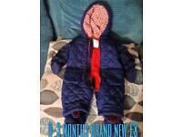 Mini club snow suit brand new 0-3 months