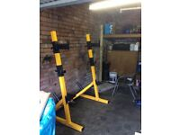 Powertec squat rack - Olympic Gym Weights