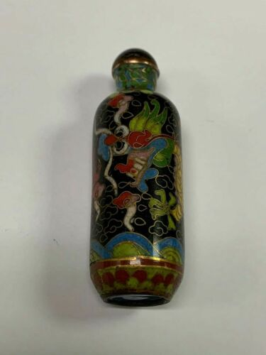 Chinese Cloisonne Dragon Snuff Bottle