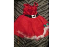 girls miss christmas fancy dress age 3/4 years great for a party or play