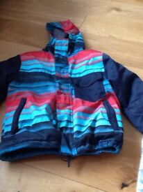 Billabong boys UK 8 snow jacket coat