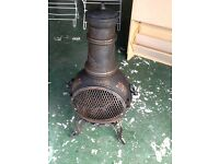 Cast iron garden chimnea in superb condition