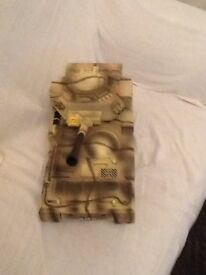 Toy action man tank