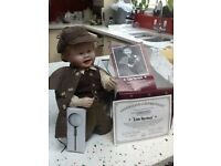 Ashton Drake Little Sherlock bisque porcelain doll but artist Kathy Barry-Hippensteel