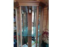 Home Glass Display Corner Cabinet