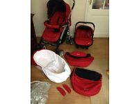 * Silver Cross 3D Travel System in Red * only used for approx 6 months